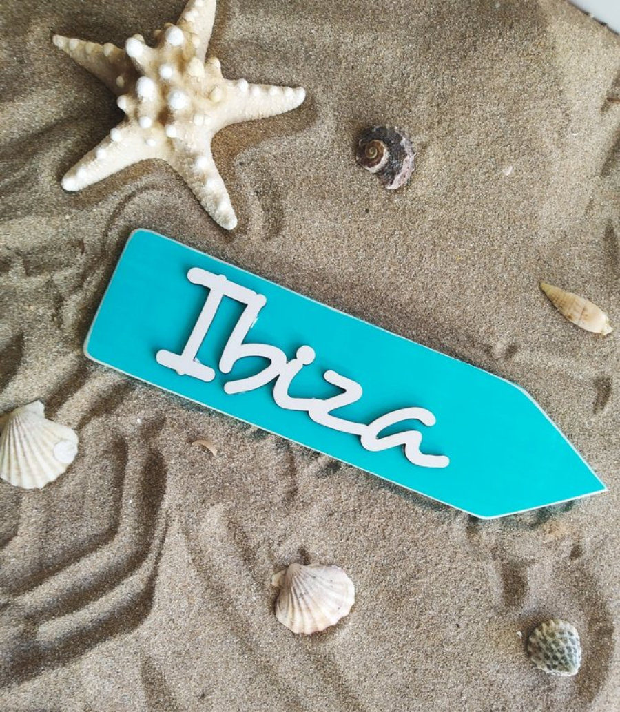 Flecha Ibiza Turquesa 3D