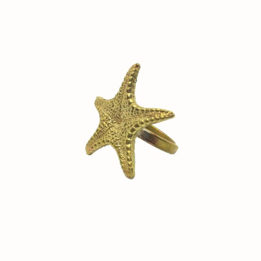 Anillo estrella de mar grande