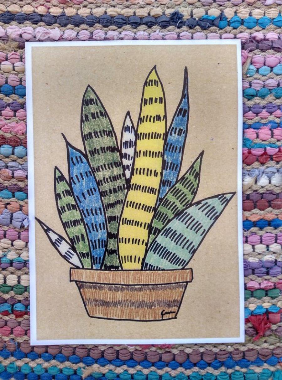 """Ilustración """"Cactus lapiz color 3"""""""