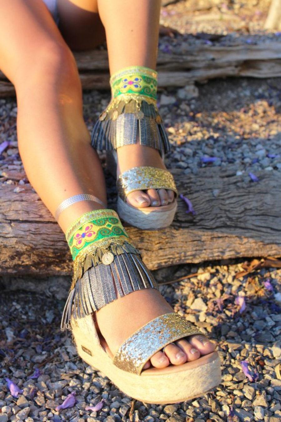 Tobilleras o cubre sandalias