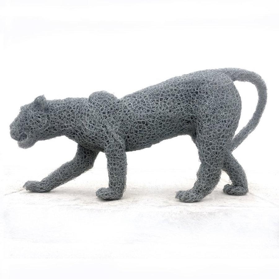 Leopard wire sculpture