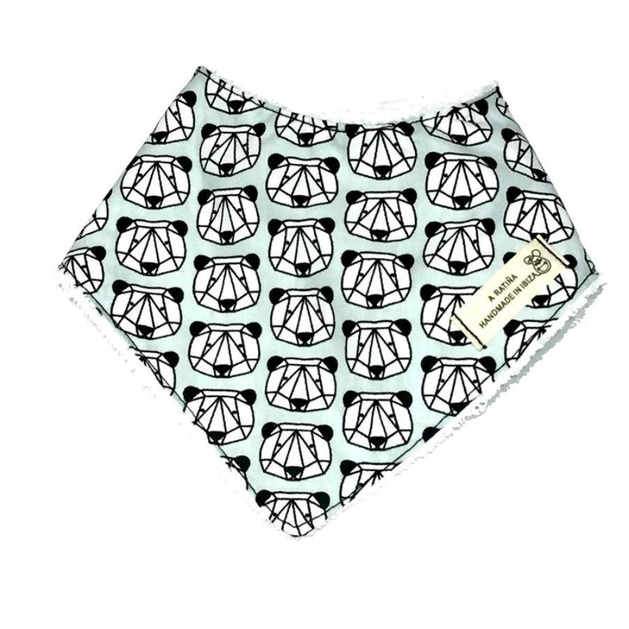 Bandana bebé panda geométrico