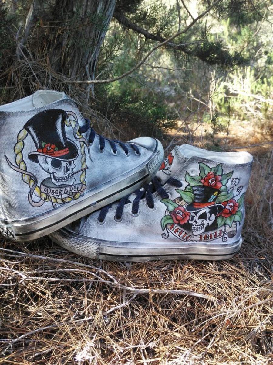 "Sneakers tattoo ""hello ibiza"""