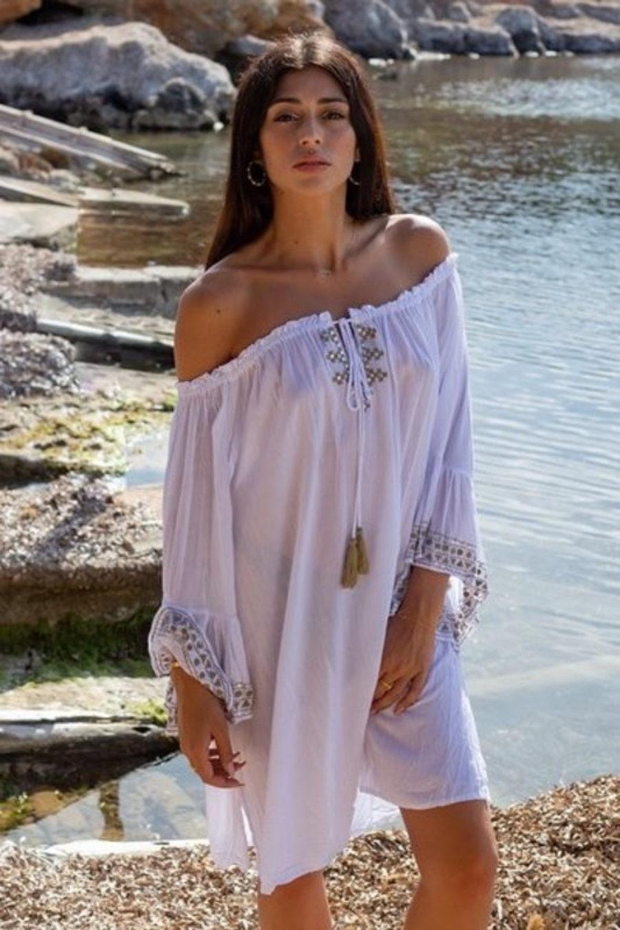 Dress with beautiful sleeve