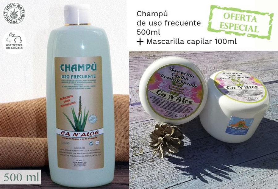 Pack  oferta  Champú  de uso frecuente 500 ml + Mascarilla capilar 100 ml