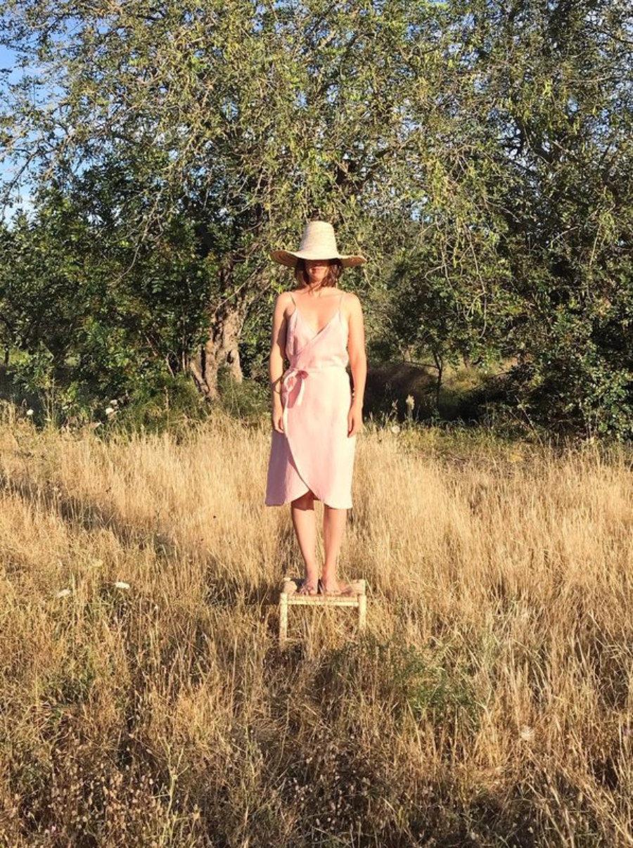 Alma Dress - Quartz Pink Linen