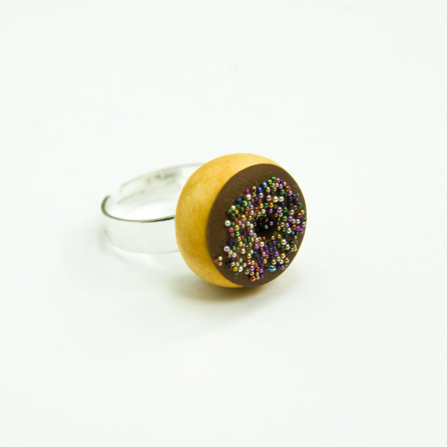 Anillo donuts topping brillante