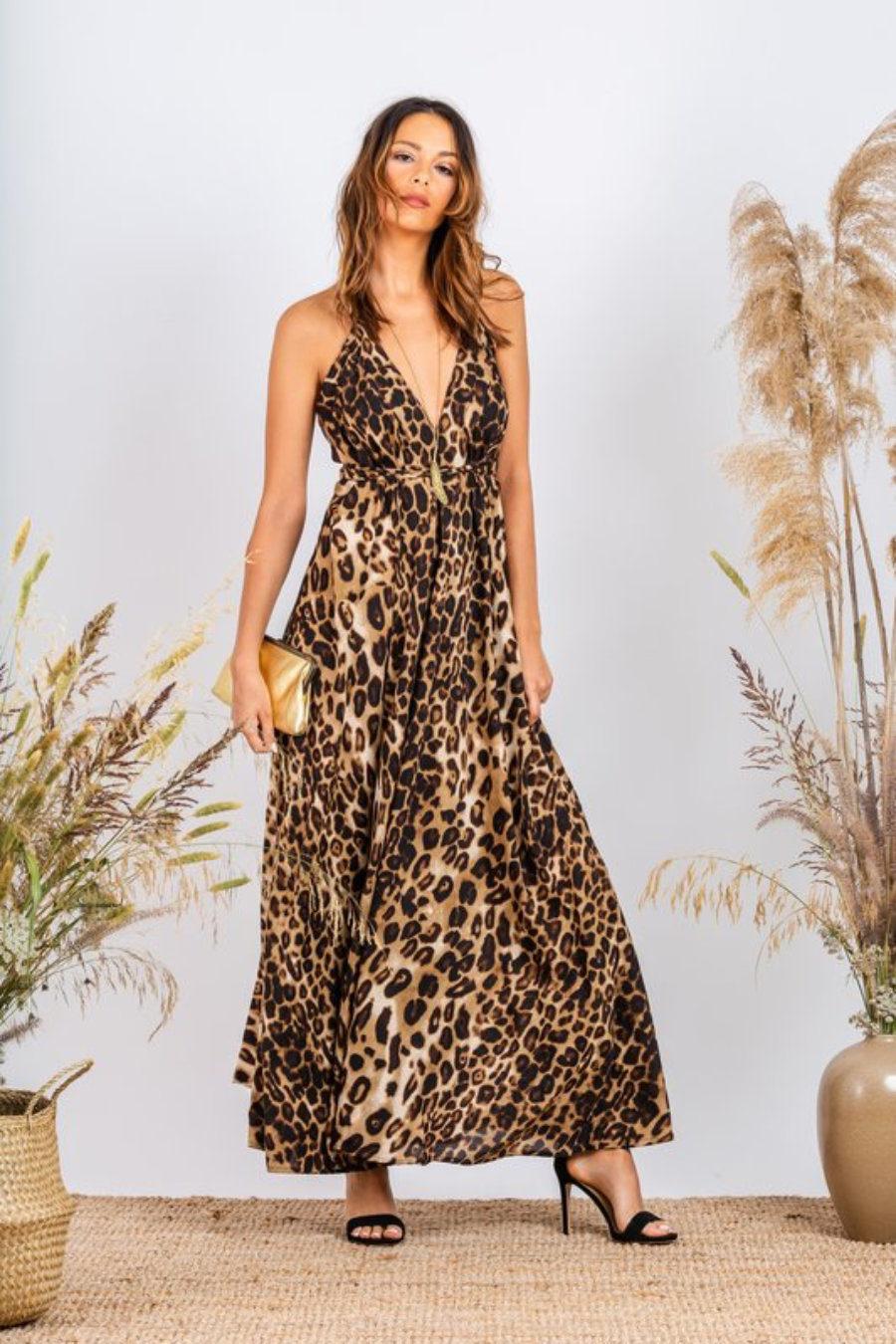 Silky Gardenia Dress (Animal)
