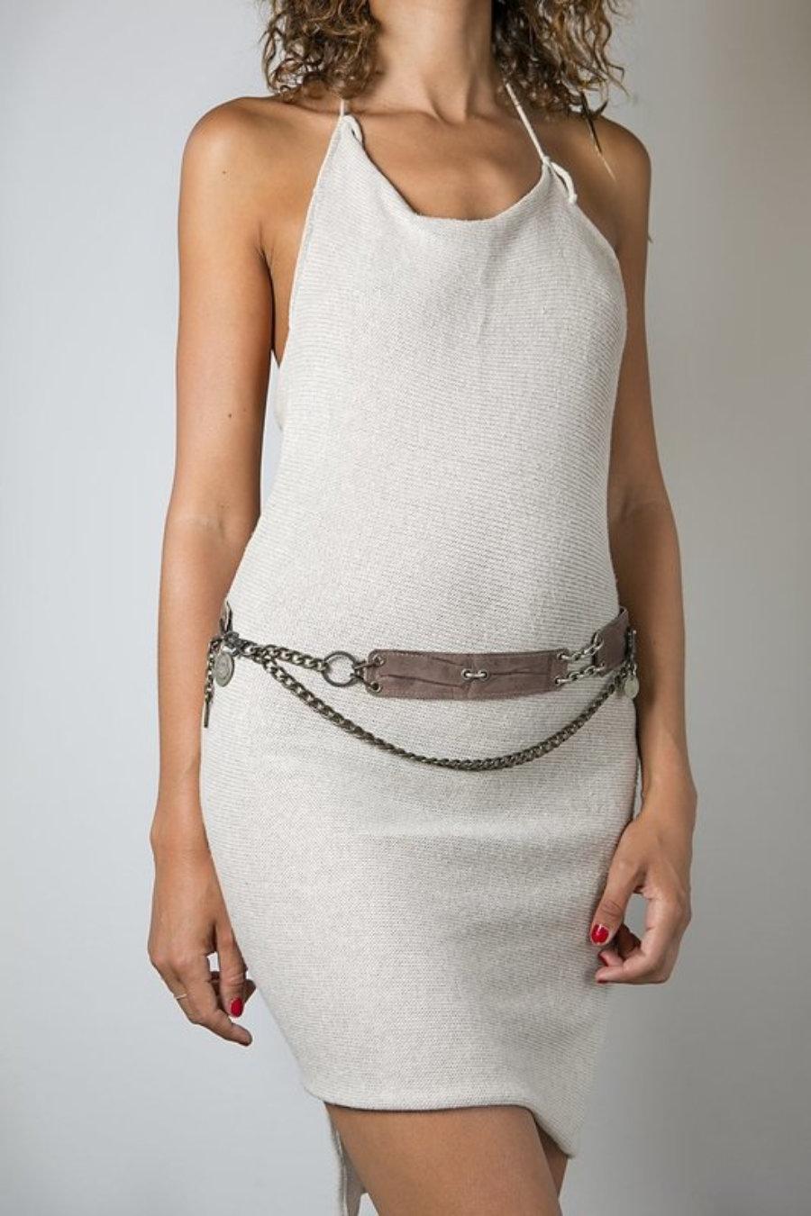 Cinturón reversible en marrón y gris