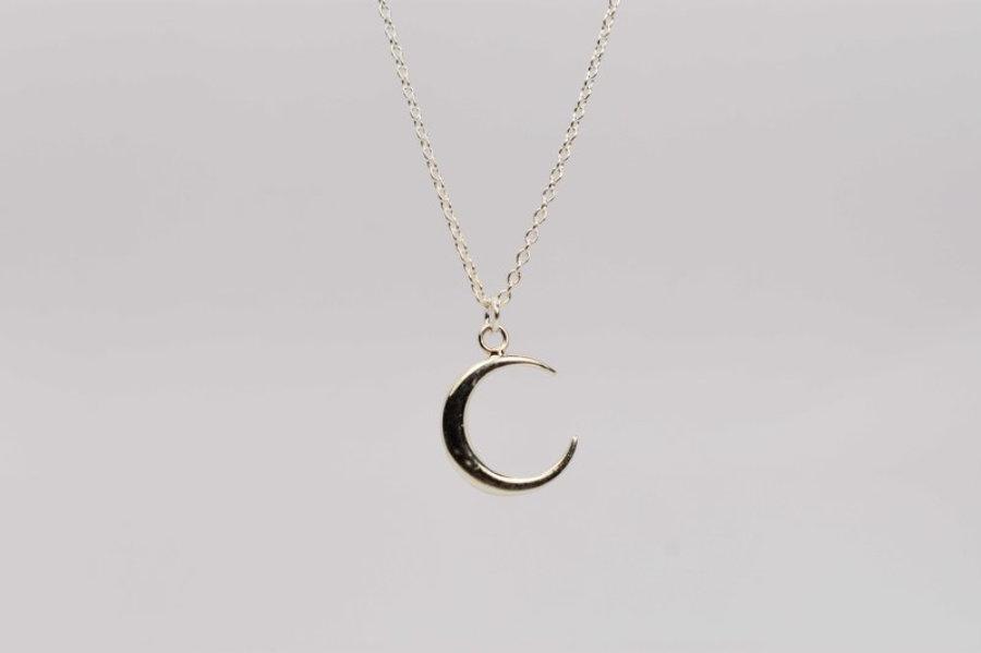 Collar plata 925 Luna Nueva
