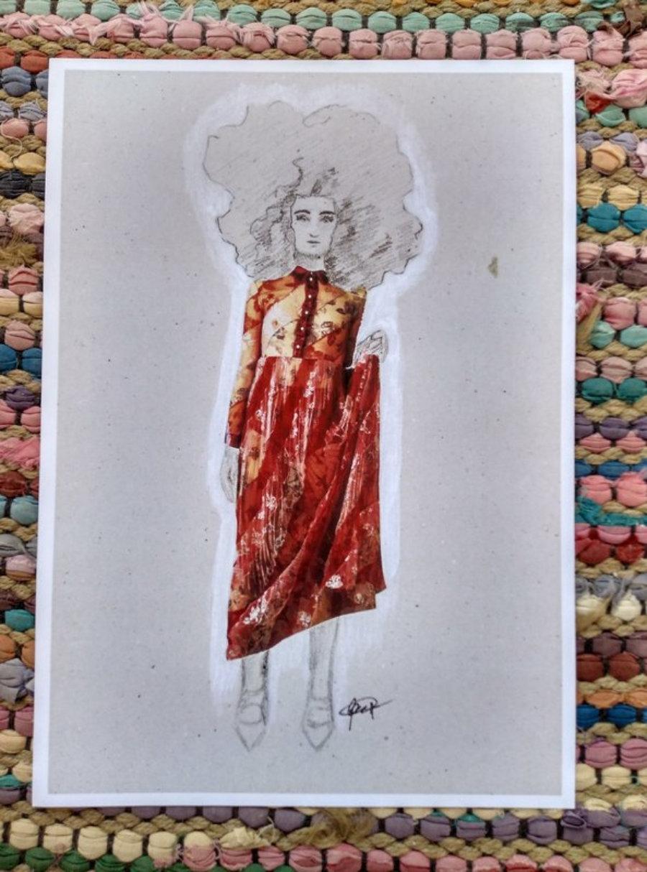"""Red dress"" Illustration"