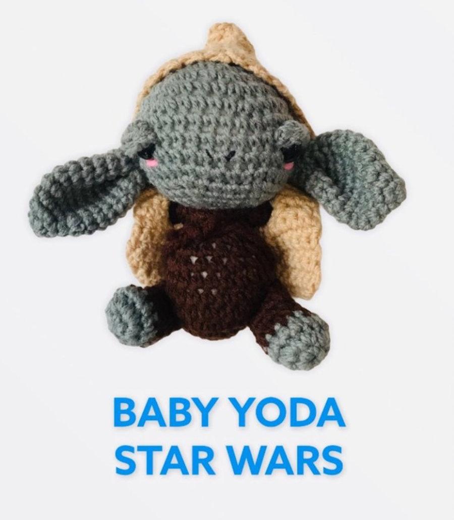 """AMIGURUMIS Muñecos de croché """"Baby Yoda Star Wars"""""""