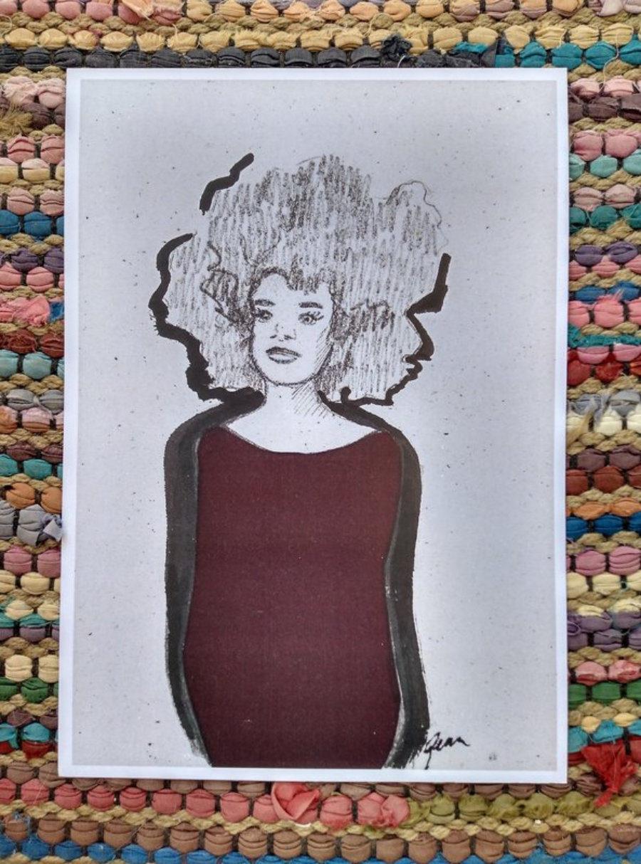 "Ilustración ""Afro jersey"""