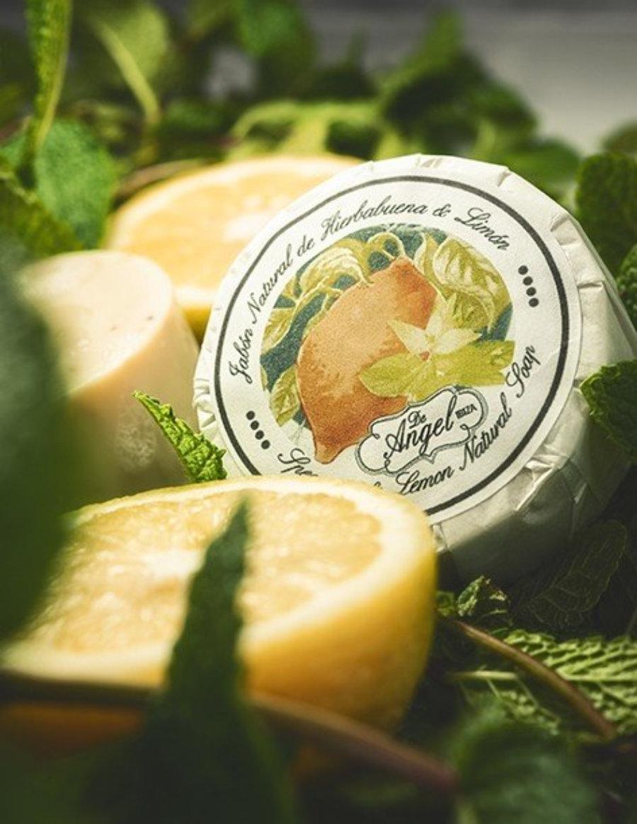 Jabón natural de hierbuena y limón