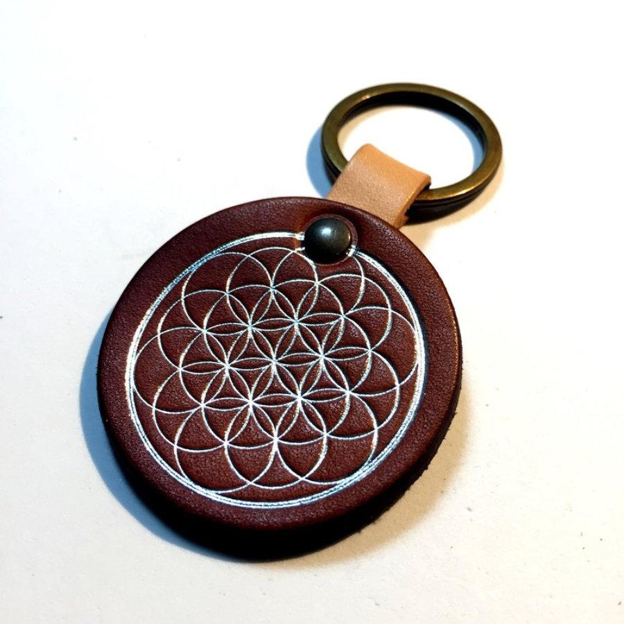 Mandala Peace Keychain
