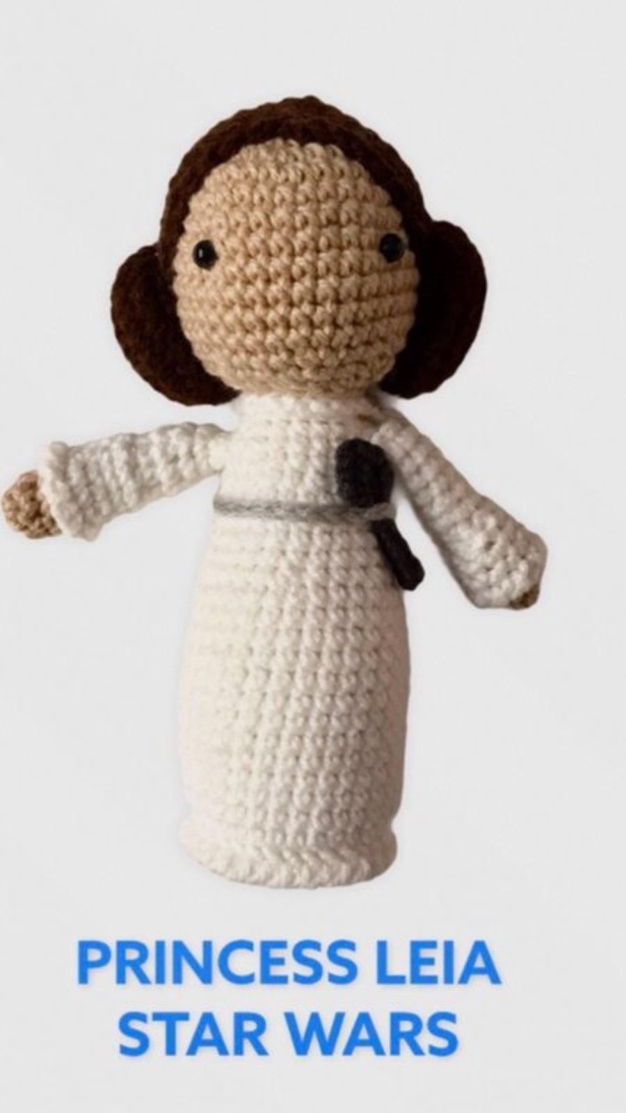 """AMIGURUMIS, Muñecos de croché """"Princesa Leia Star Wars"""""""