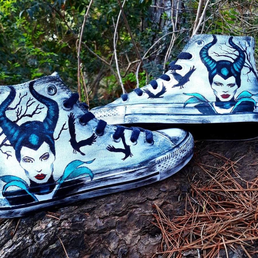 Sneakers tattoo Maleficent