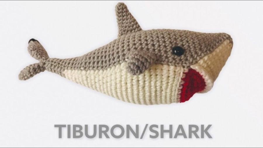 """AMIGURUMIS Muñecos de croché """"Tiburón"""""""
