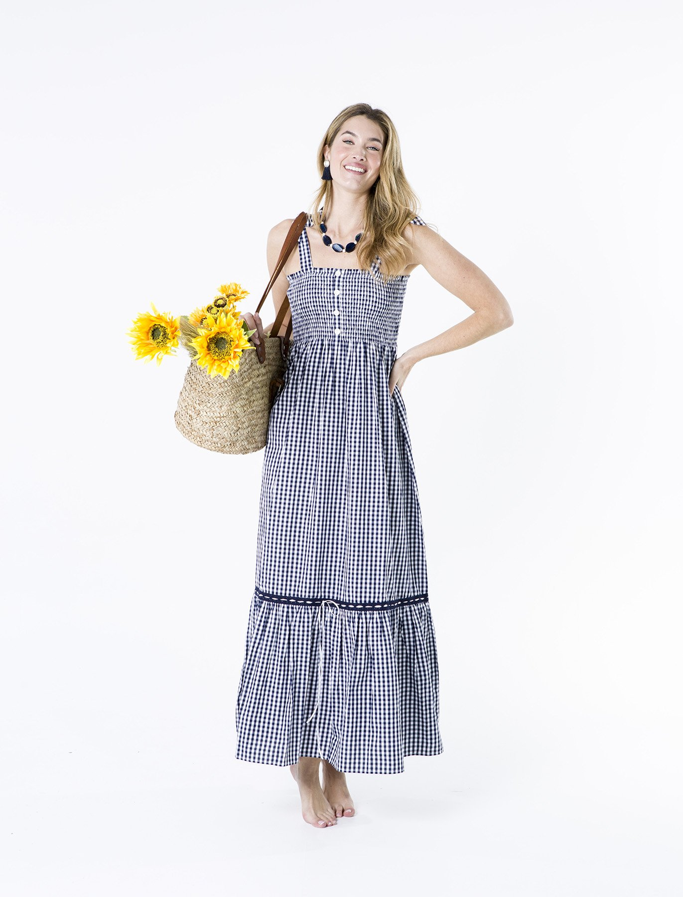 Vestido Elástico Vichy