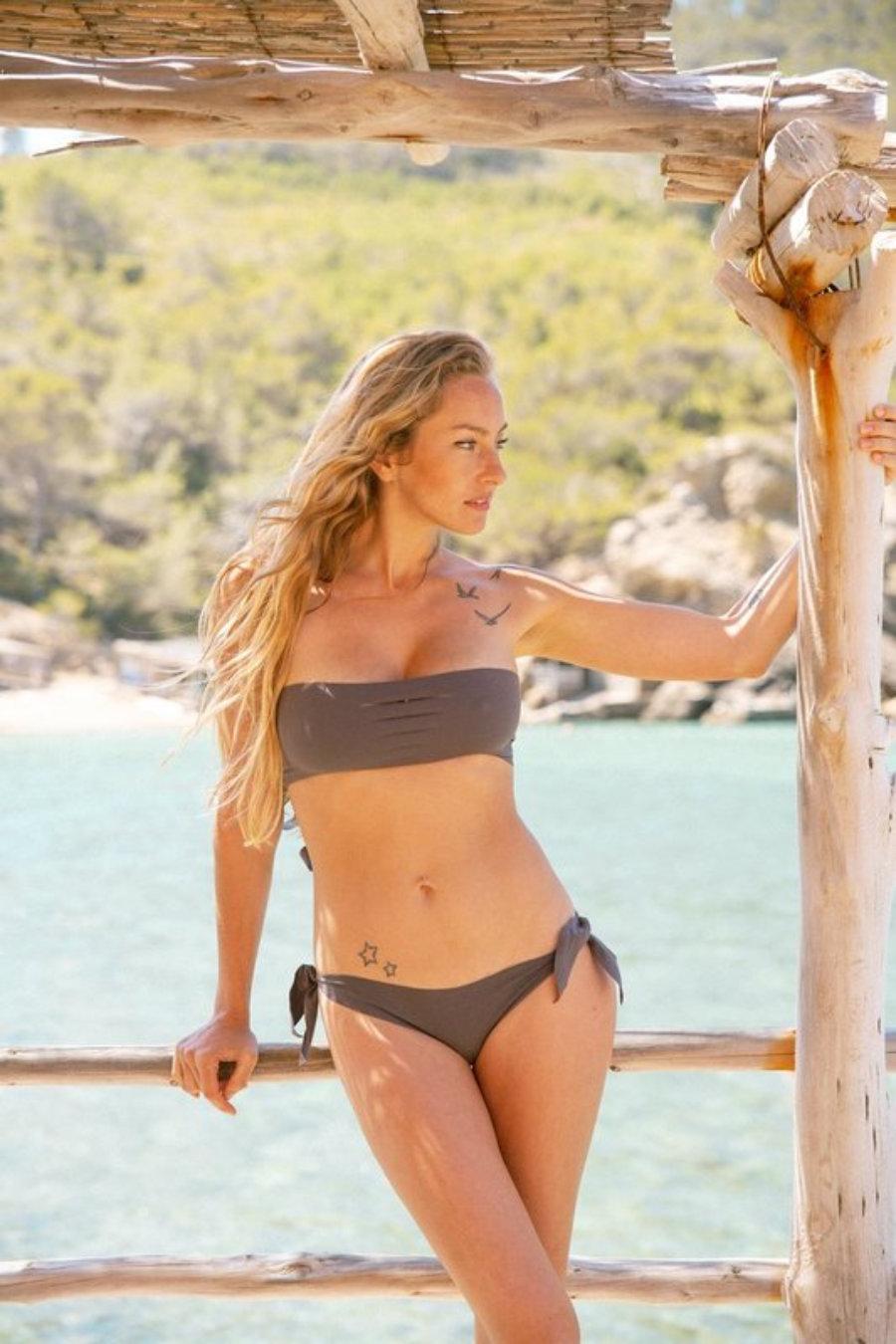aria bandeau top/ slip brazilan seamless and handmade bikini