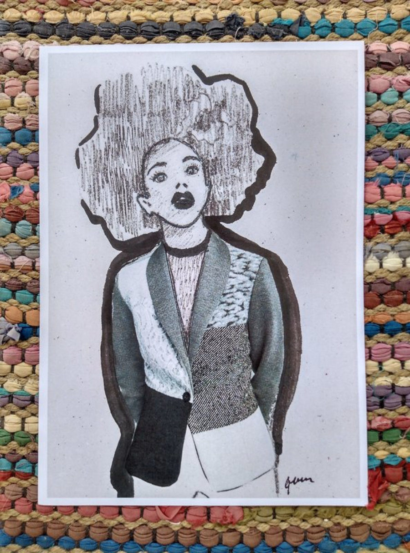 "Ilustración ""Afro Chaqueta"""