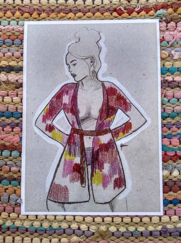 "Ilustración ""Kimono"""