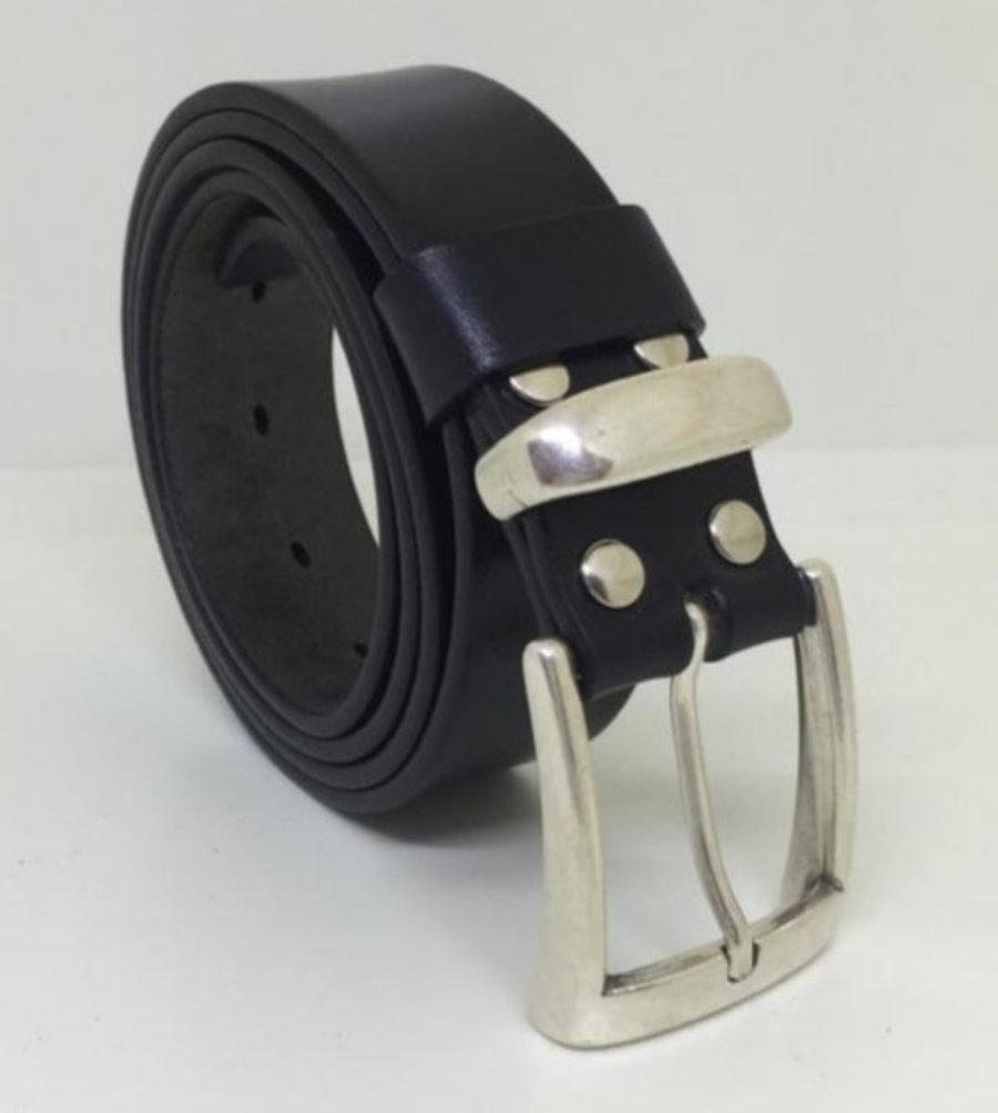 Cinturón 100% cuero, de 3,5cm
