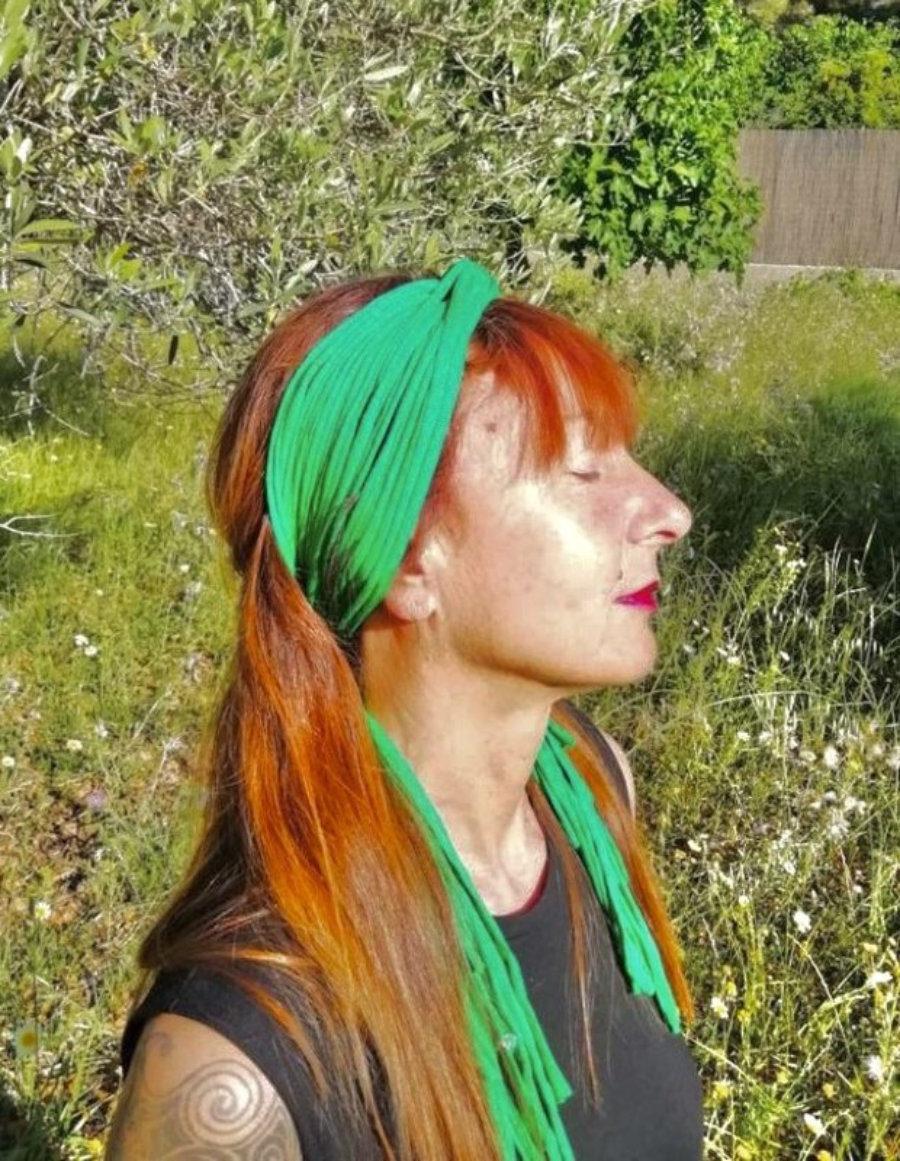 Turbante Verde Primavera