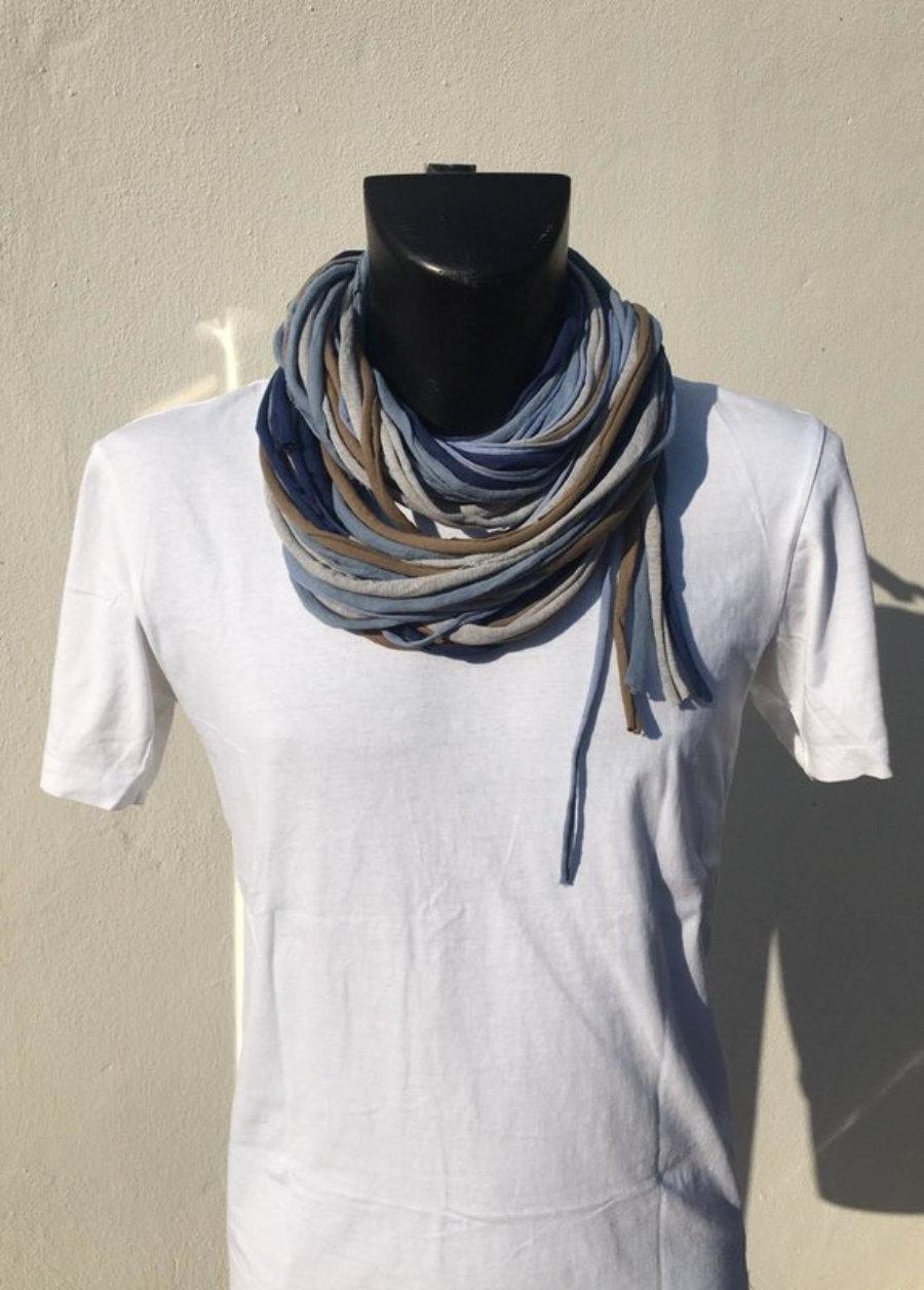 Foulard Azules, Gris Y Kaki