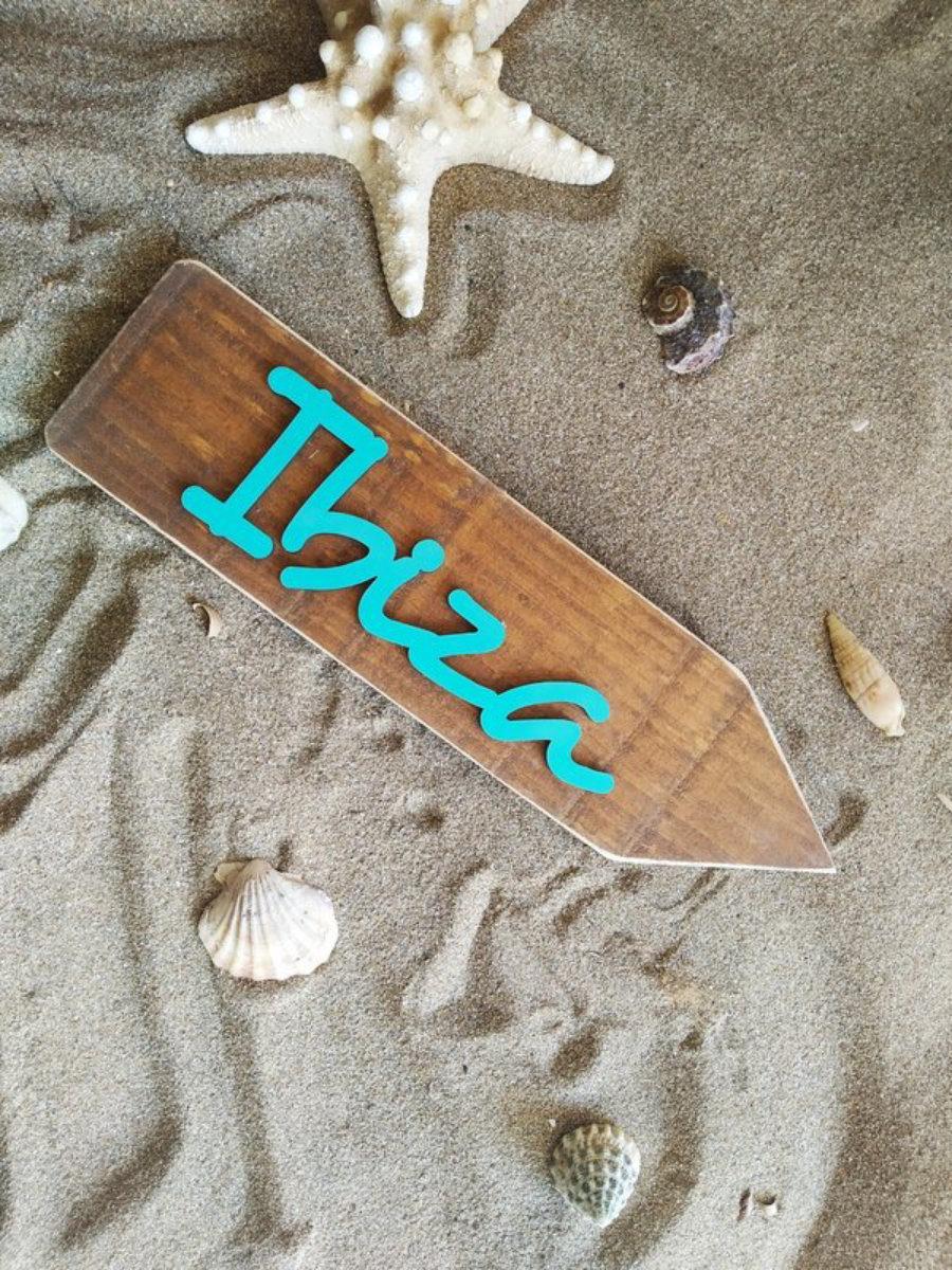 Flecha Ibiza Madera 3D