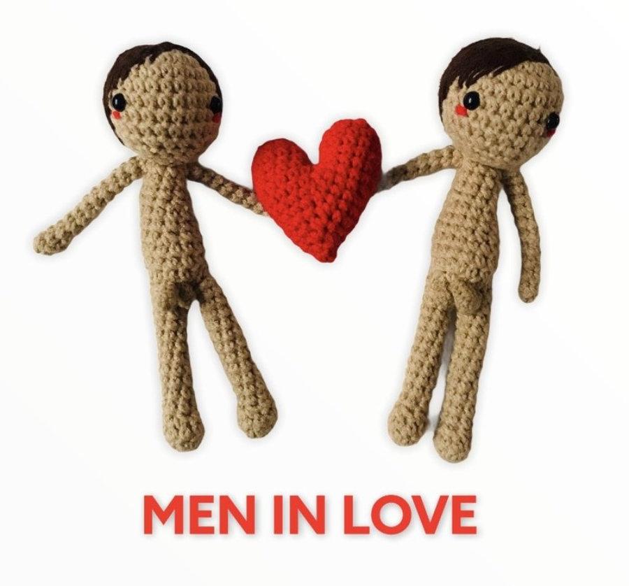 """AMIGURUMIS Muñecos de croche """"Men in love"""""""