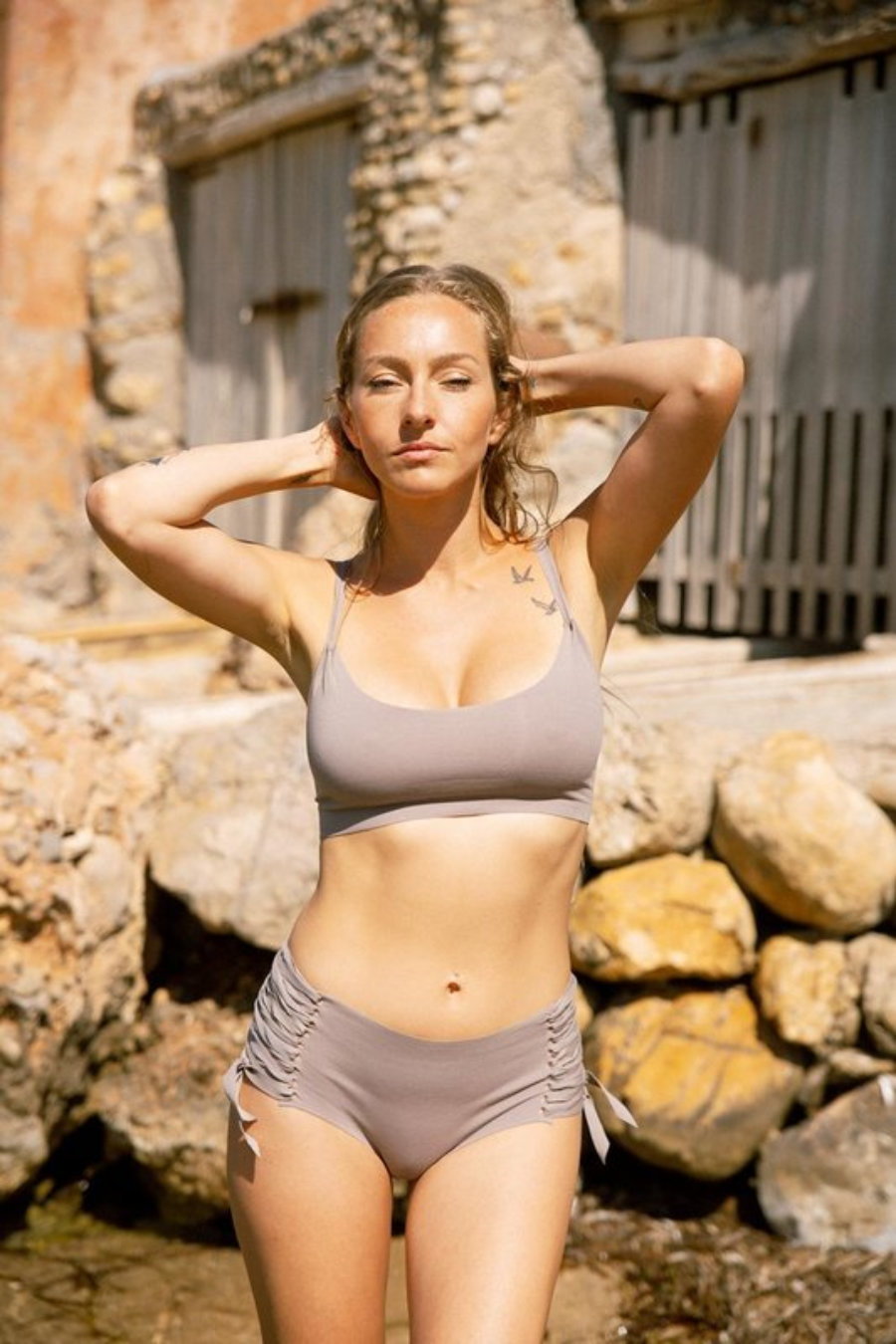 Icaro top coulotte seamless bikini handmade