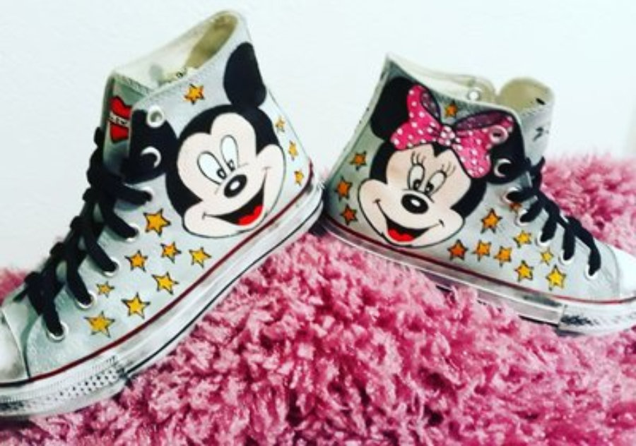 Sneakers tattoo mickey mouse