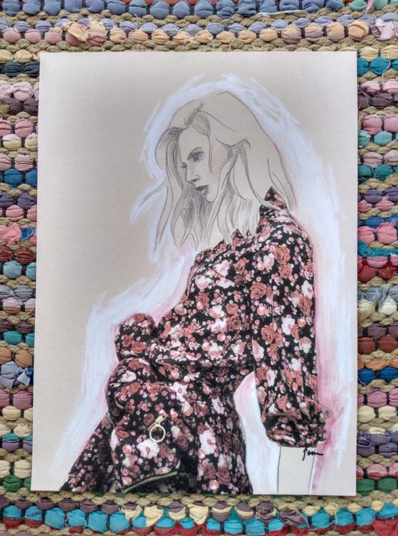 """Ilustración """"Mujer flores"""""""
