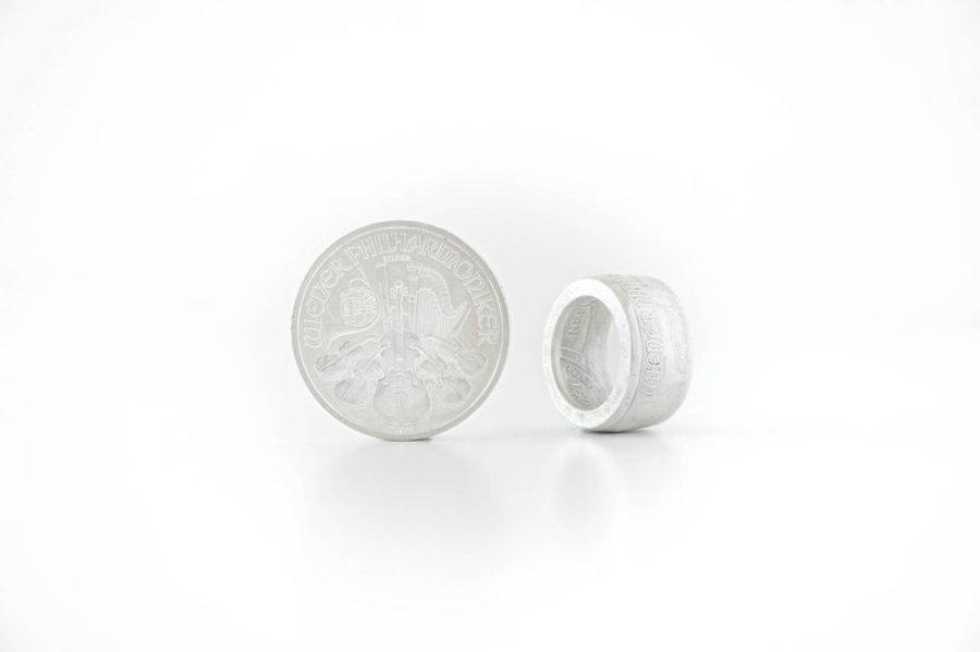 1,50 Euro Vienna Philharmonic Silver Coin Ring