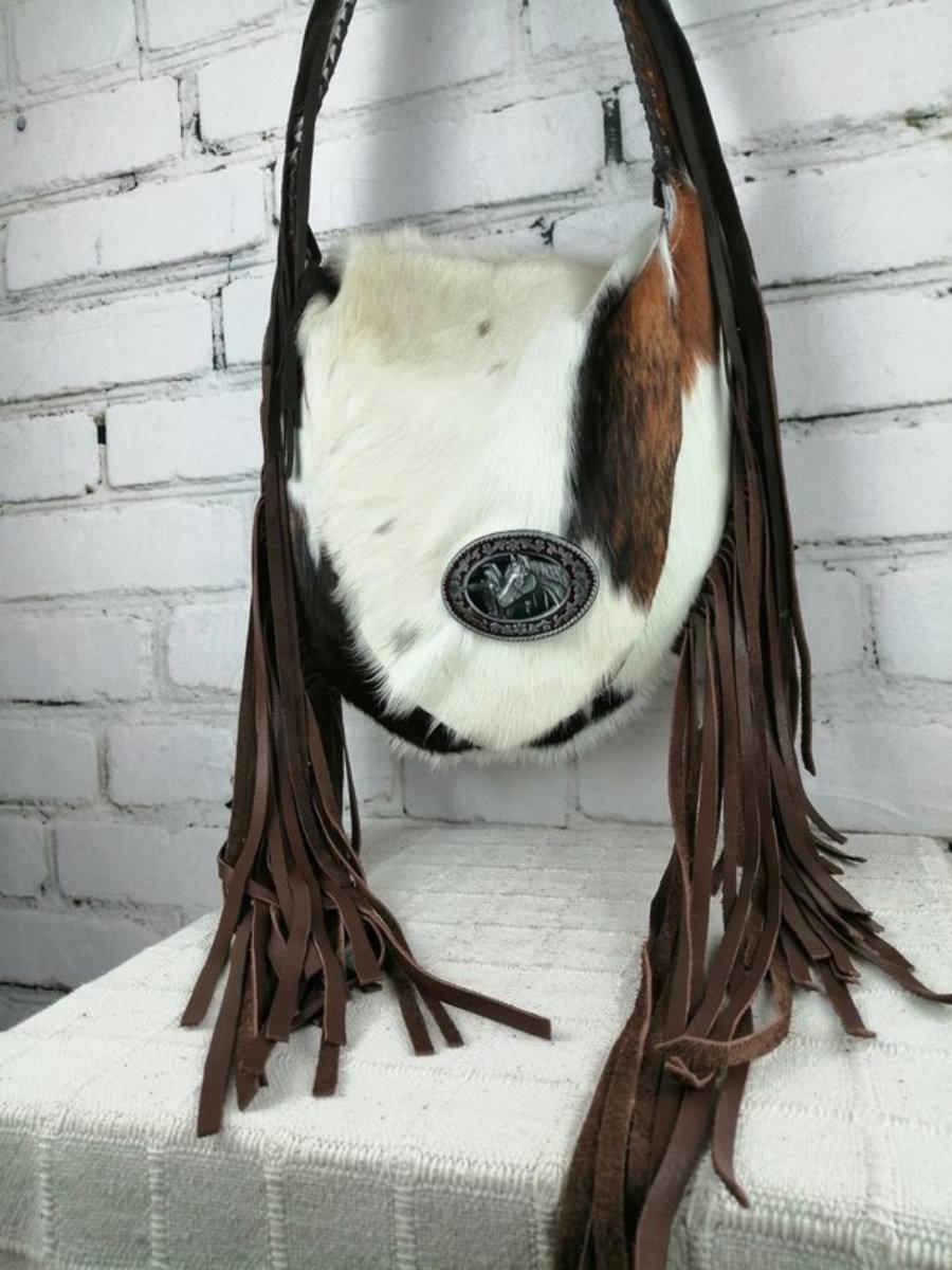 Bolso Cowgirl Piel de Vaca/ Diseño Western Único