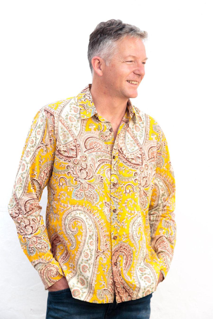 "Camisa BOB ""Psychedelic Yellow"""