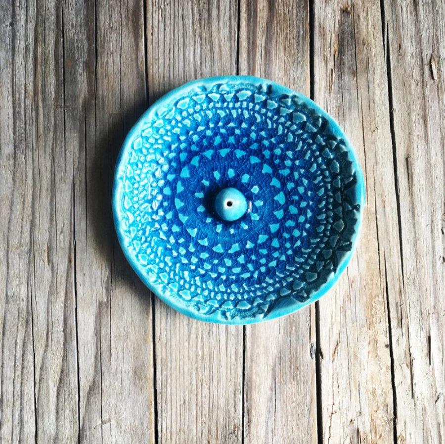 Porta Incienso, cerámica artesanal