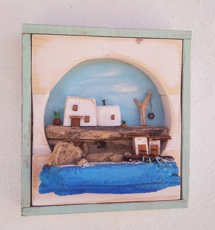 Cuadro Casitas  / Ibiza en miniatura