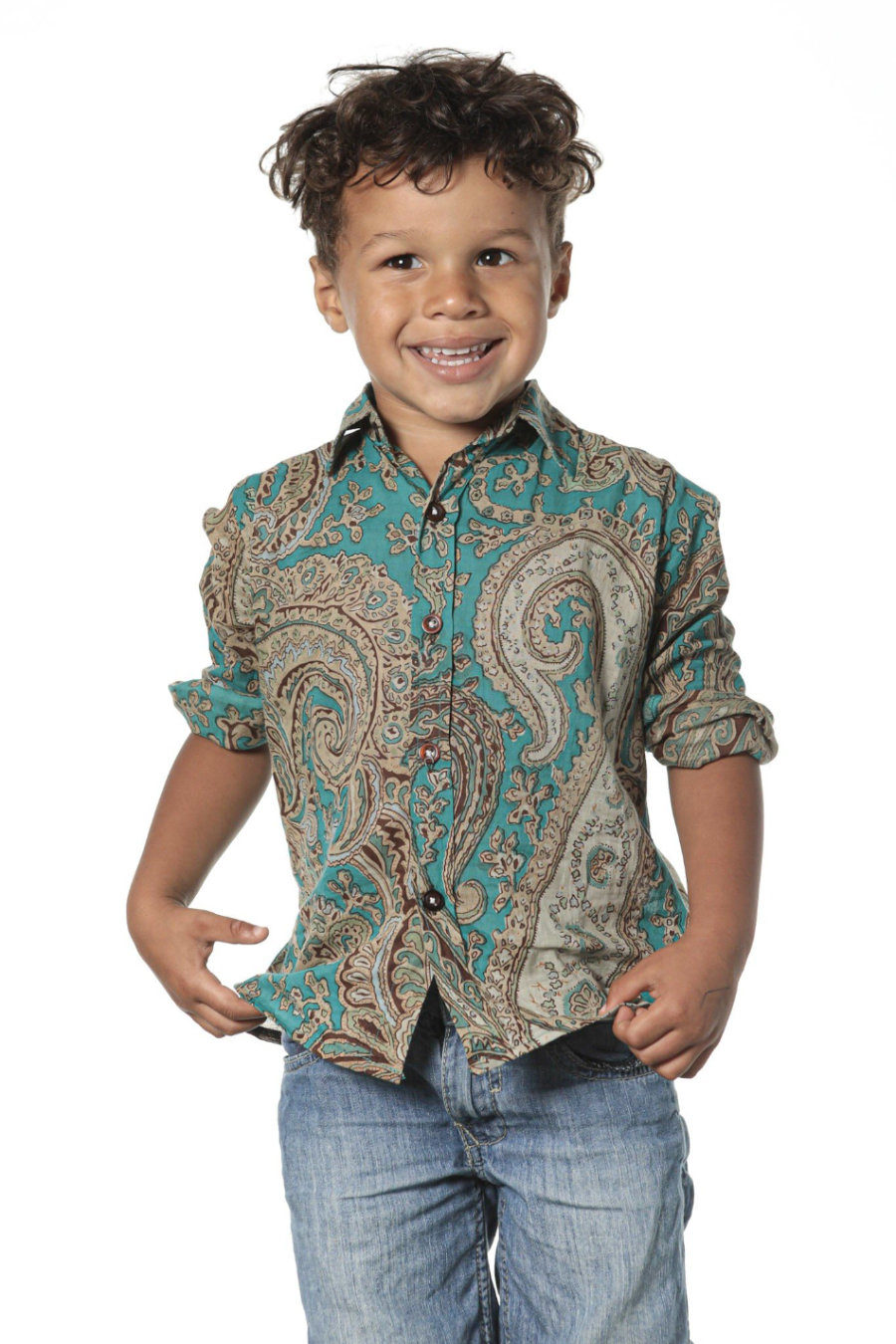 """Camisa NICK """"Psychedelic Turquoise"""""""