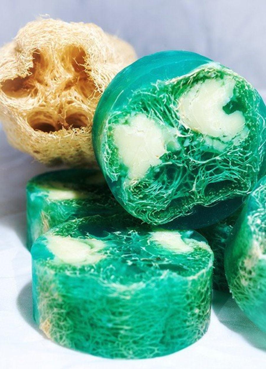 Jabón exfoliante de Lufa
