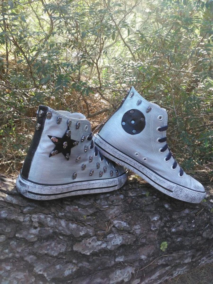 Rockers blancas estrella negra