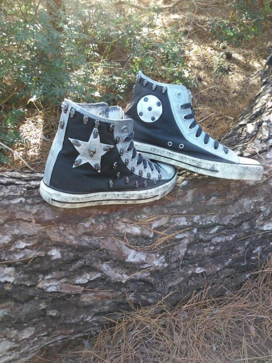 Rockers negras estrella plata