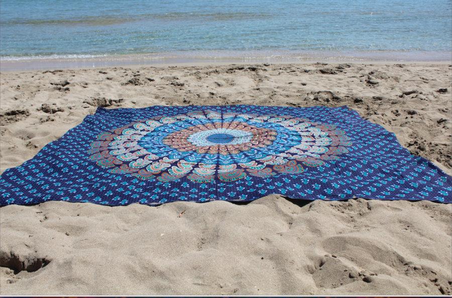 Pareo Azul Mandala