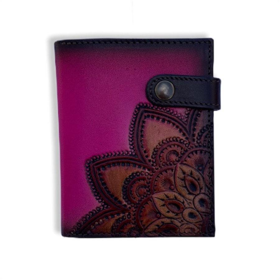 Small fuchsia madala click wallet
