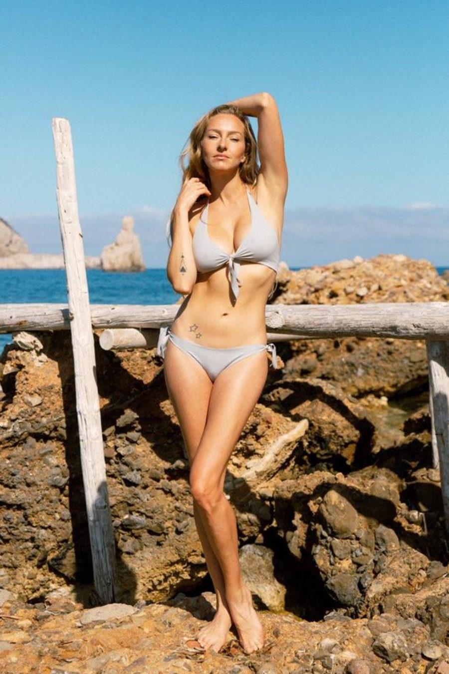 Flor tringle/ slip Ibiza seamless and handmade bikini