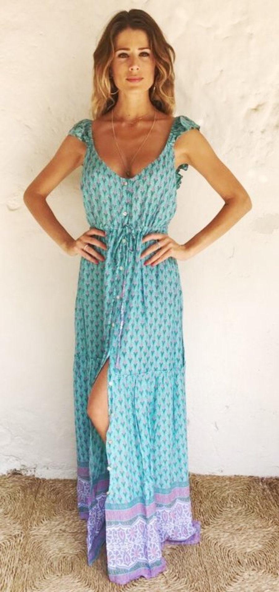 Vestido Gypsy Turquesa