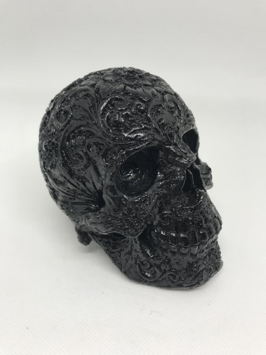 Calavera carving 2 negro