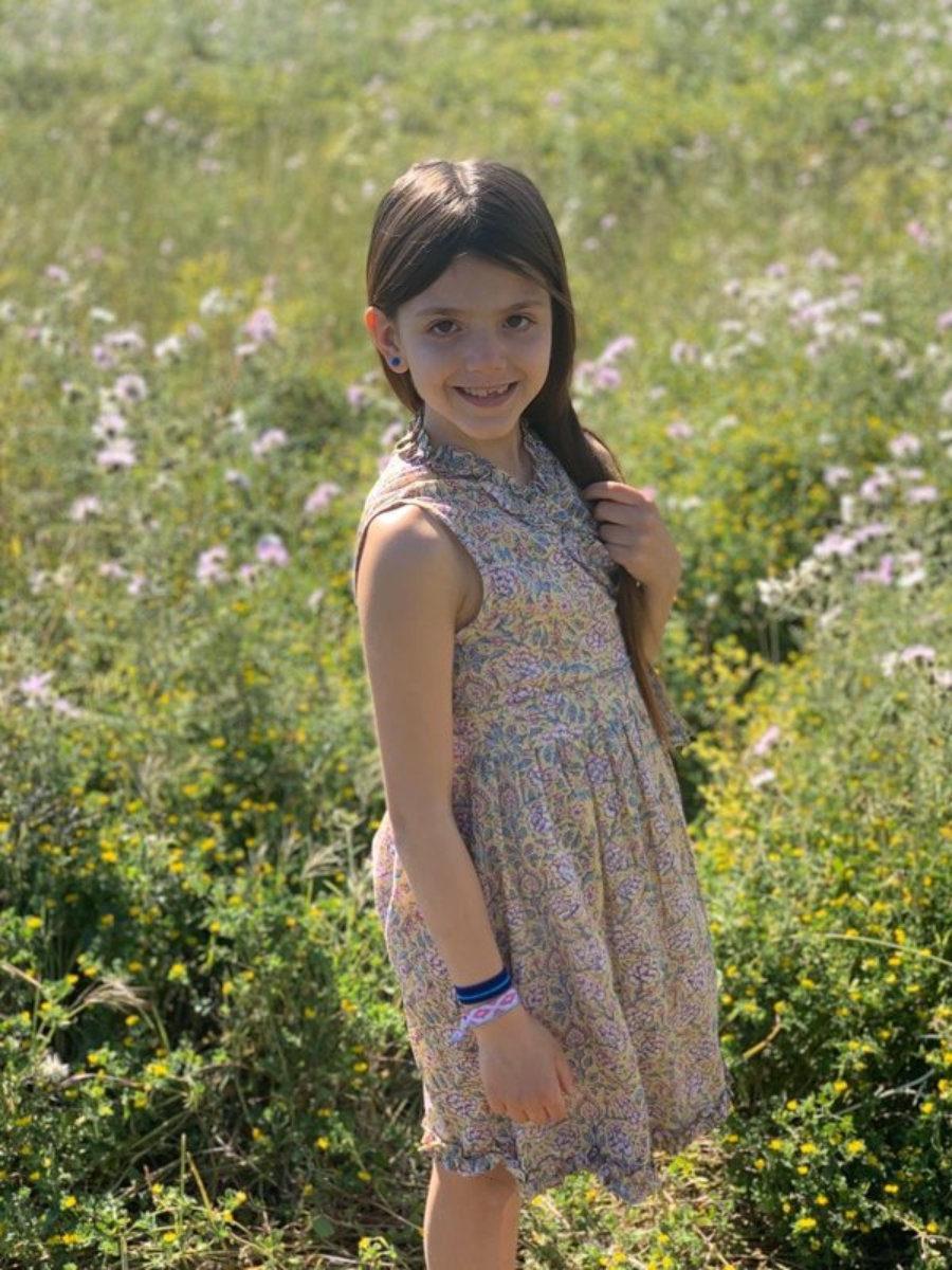 Angelina, vestido cruzado de niña para las pequeñas chicas AUROBELLE