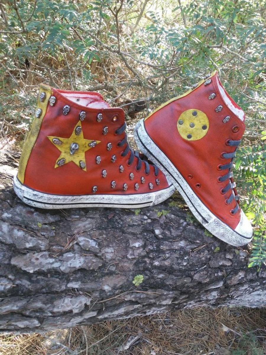 Rockers rojas estrella amarilla